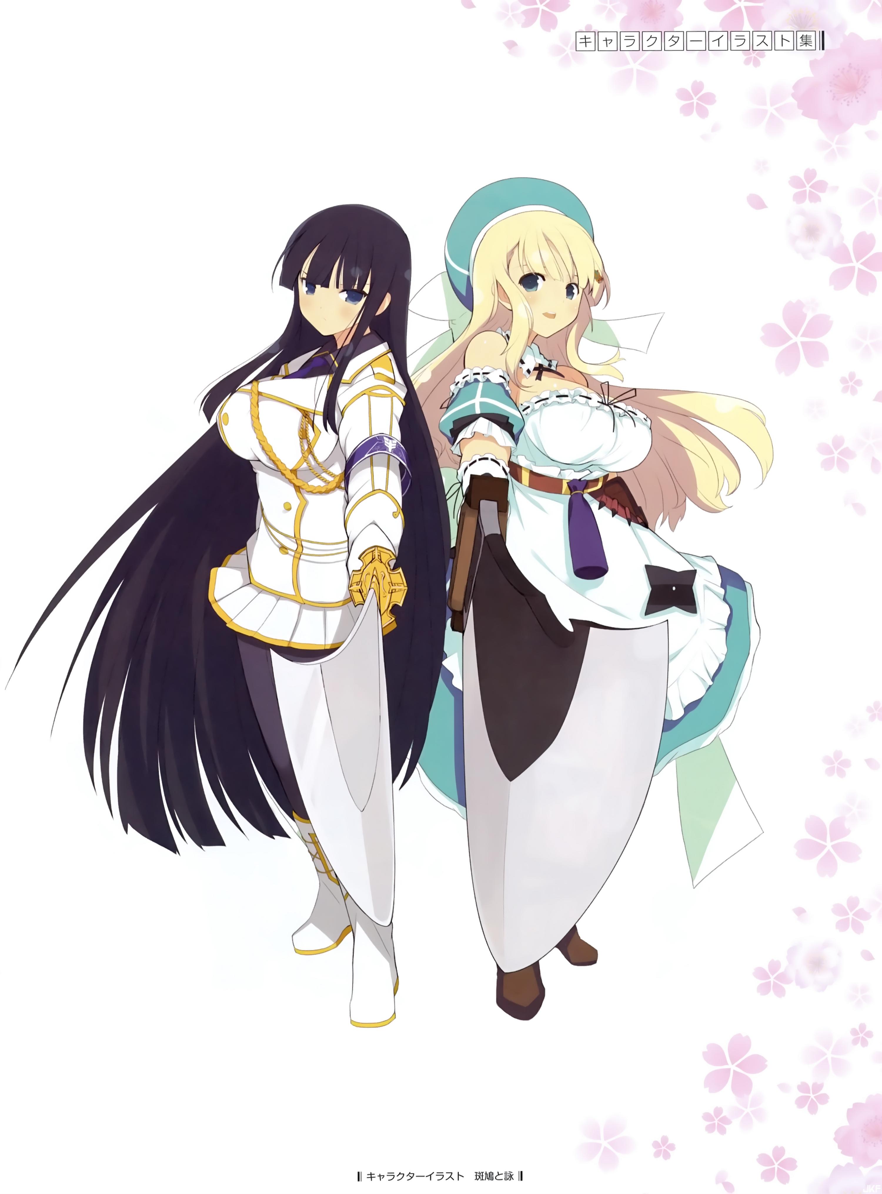 yande.re 303109 dress ikaruga pantyhose senran_kagura sword uniform yaegashi_nan.jpg