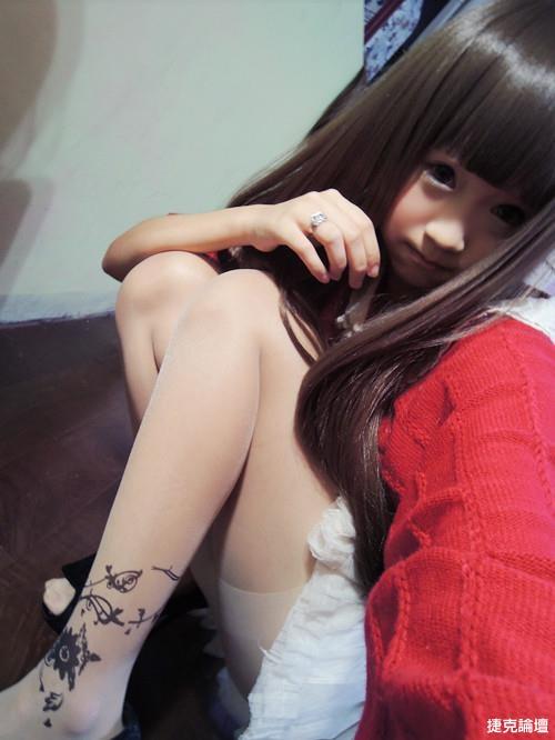 可愛妹妹刺青絲襪(10P) - 貼圖 - 絲襪美腿 -