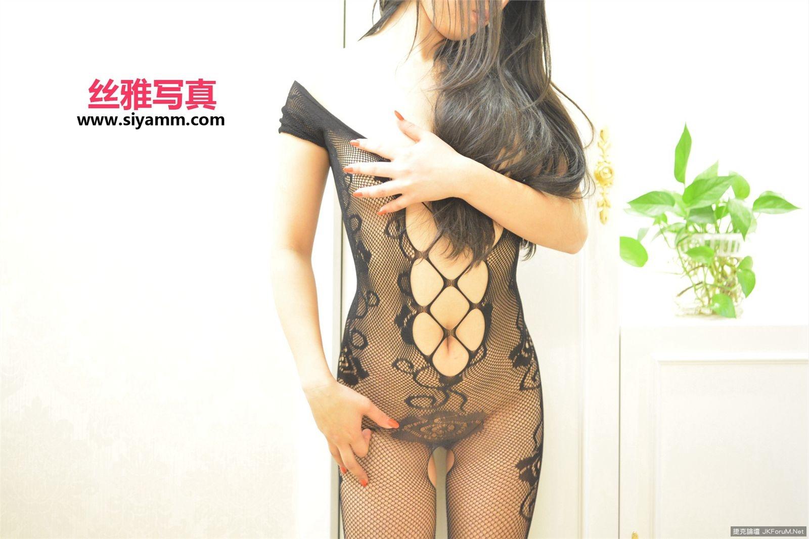 【SIYAMM絲雅寫真系列】NO.111絲襪無內直穿 連身黑網的誘惑【44P】 - 貼圖 - 絲襪美腿 -