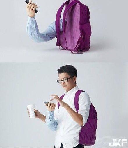 有了這種背包不怕少一隻手.jpg
