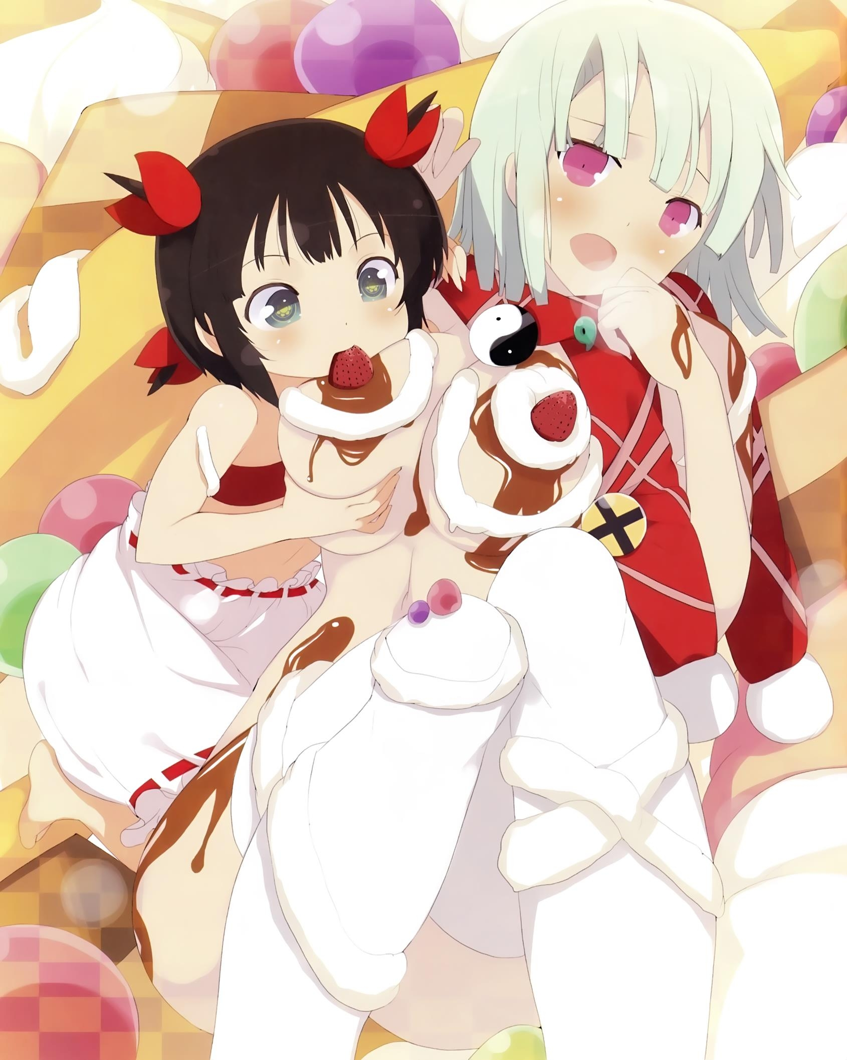 yande.re 302798 breast_grab breasts cream kagura_(senran_kagura) loli naked nara.jpg