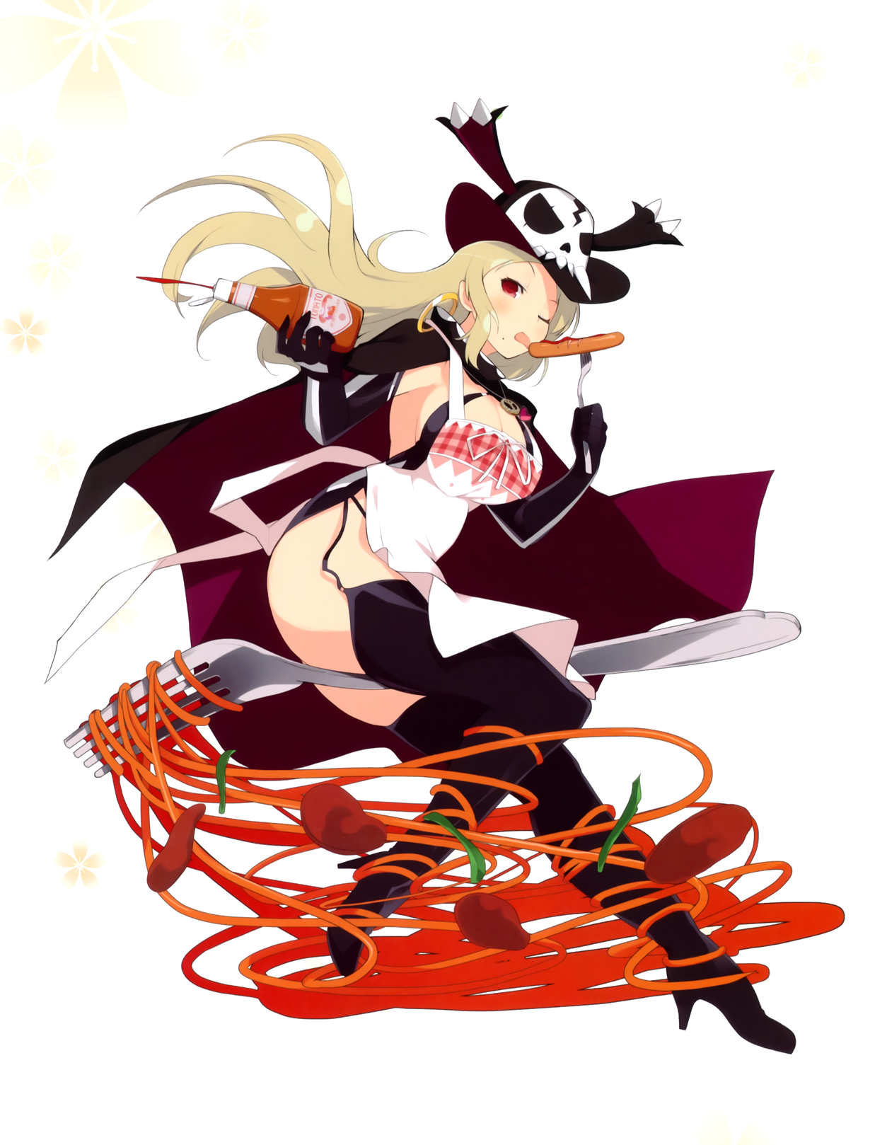 yande.re 362391 heels no_bra open_shirt pirate senran_kagura stockings thighhigh.png