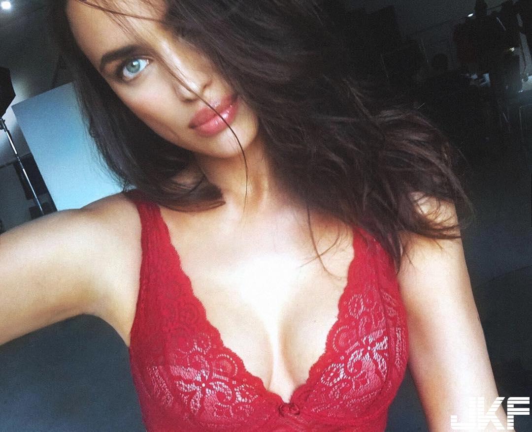 俄羅斯美模 irinashayk 性感紅色內衣和迷人臉龐 讓人看得都戀愛了 - 歐美美女 -