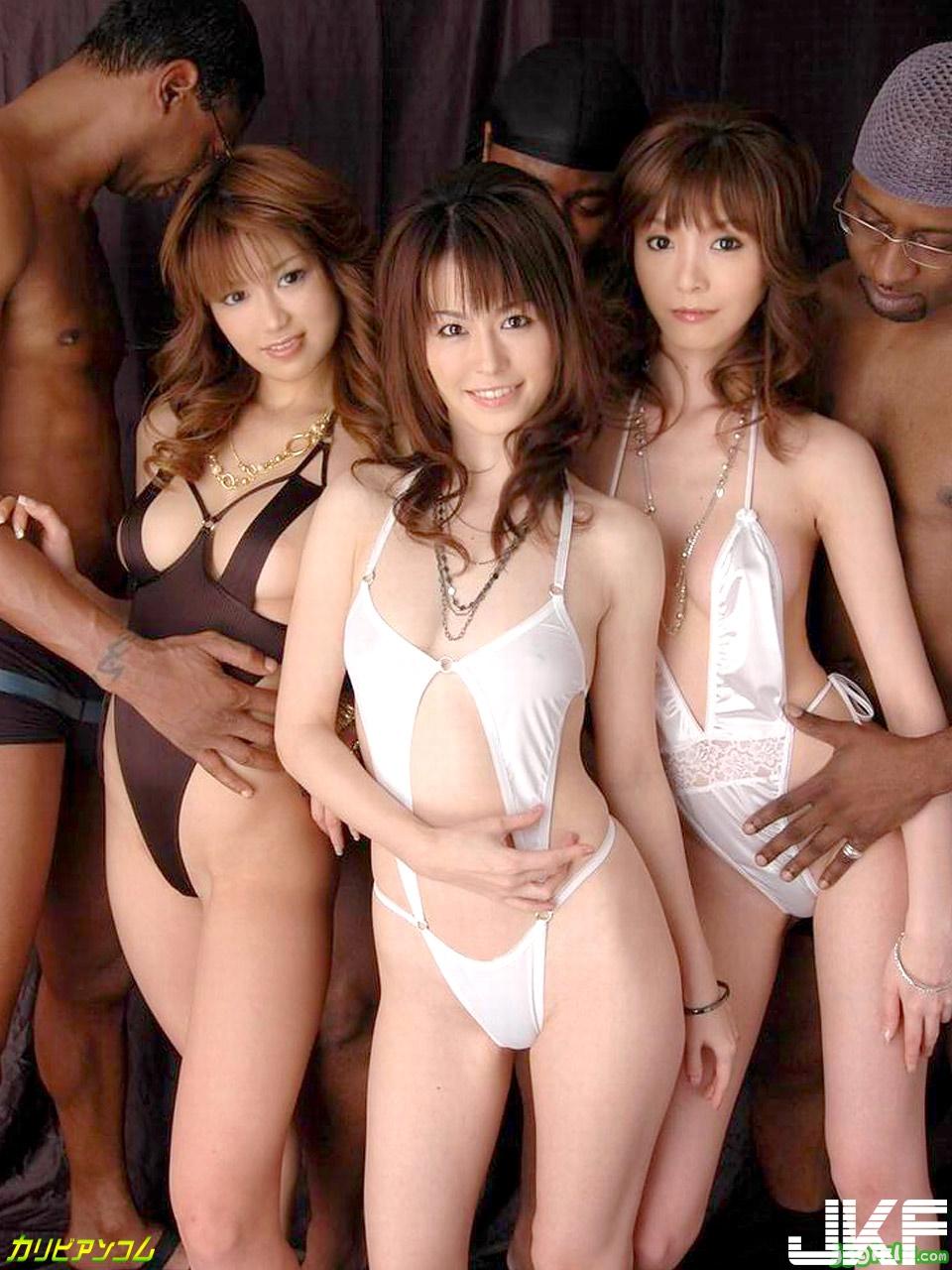 日本女與黑人 - 貼圖 - 清涼寫真 -