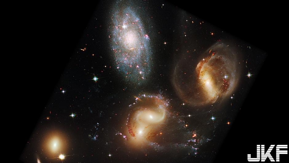 Stephan's Quintet 史蒂芬五重星系(攝於2009年)