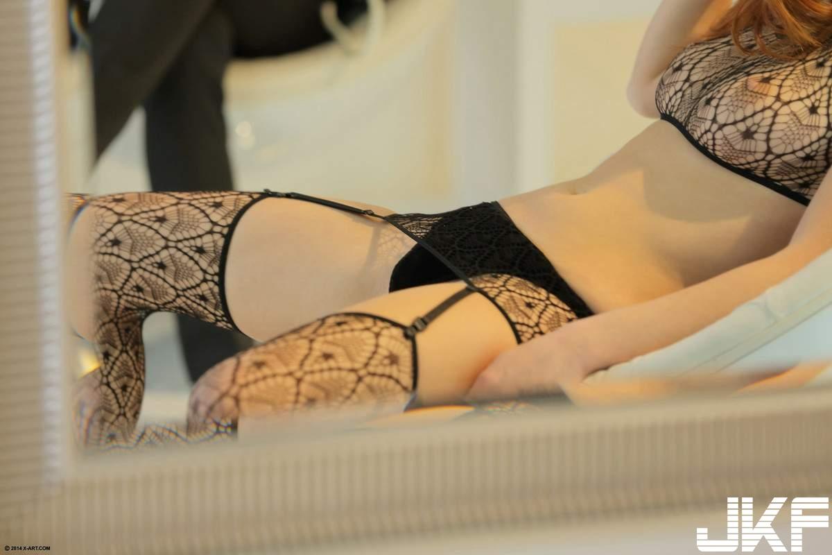 Redhead-Michelle-Starr-from-X-Art-Wearing-Black-Lingerie-2.jpg