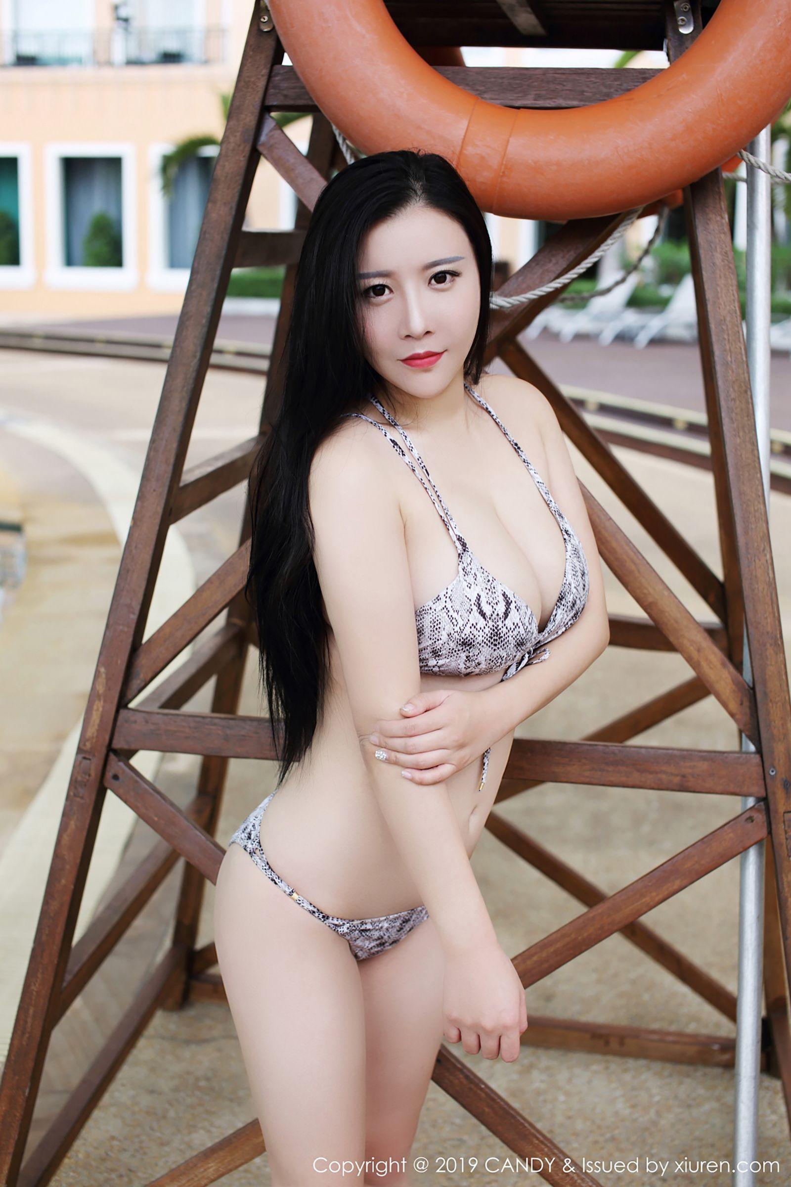 王婉悠 泳池比基尼私房蕾絲 [39P] - 貼圖 - 清涼寫真 -