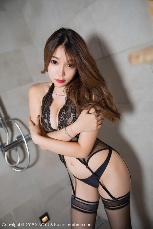 芝芝Booty 浴室黑絲蜜桃翹臀 [54P] - 貼圖 - 清涼寫真 -