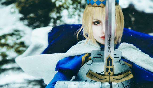 fate/stay night saber cosplay - COSPLAY -
