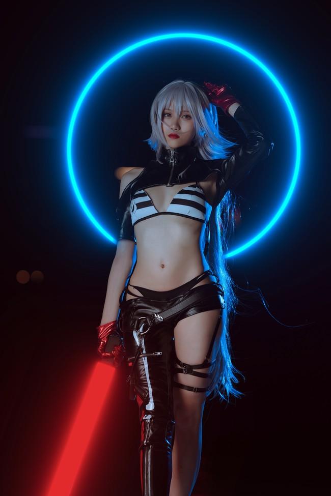 Fate/Grand Order 黑貞德 月球女朋友 Cosplay - COSPLAY -