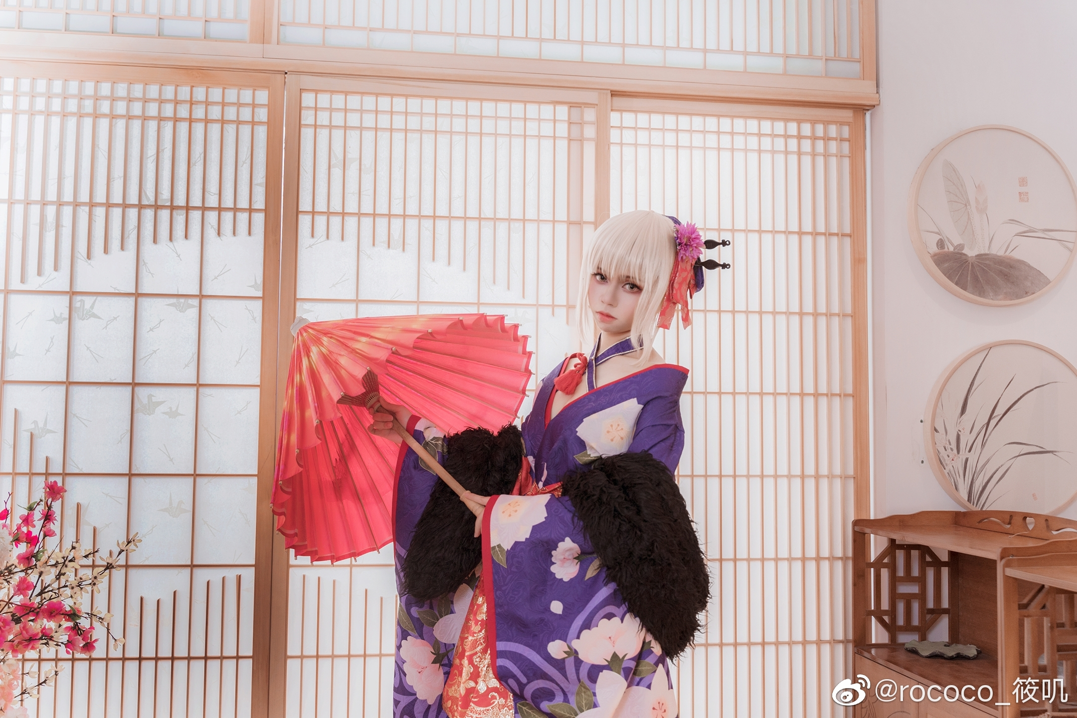Fate/Grand Order 黑saber 花魁姿 Cosplay - COSPLAY -
