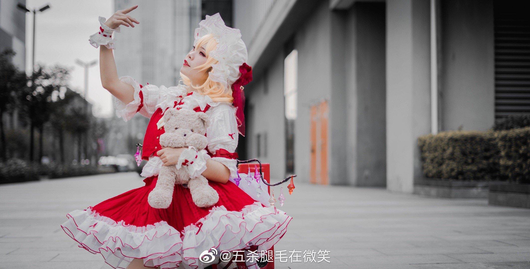 東方project  芙蘭朵露·斯卡雷特  @五殺腿毛在微笑  (初物語動漫展) - COSPLAY -