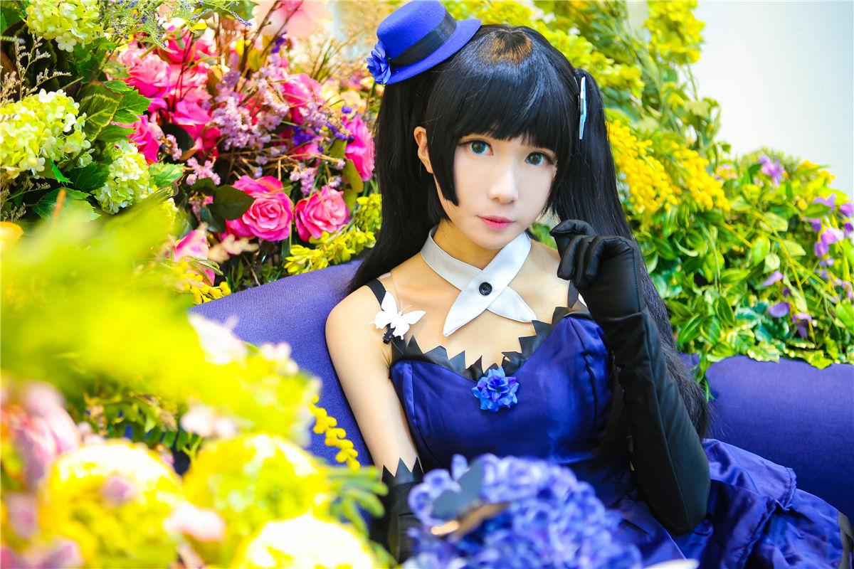 《散華禮彌》藍色禮服黑襪少女誘惑Cosplay【CN:-Tomoyo醬-】 - COSPLAY -