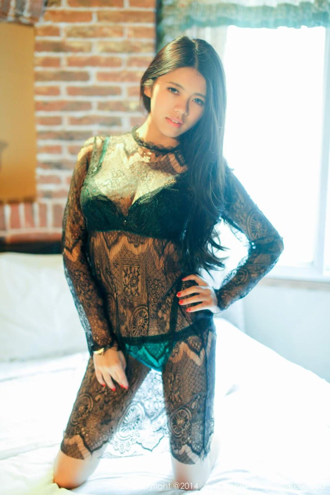 性感嫩模 歐陽妮娜娜 若隱若現的蕾絲上衣好誘人 - 貼圖 - 清涼寫真 -