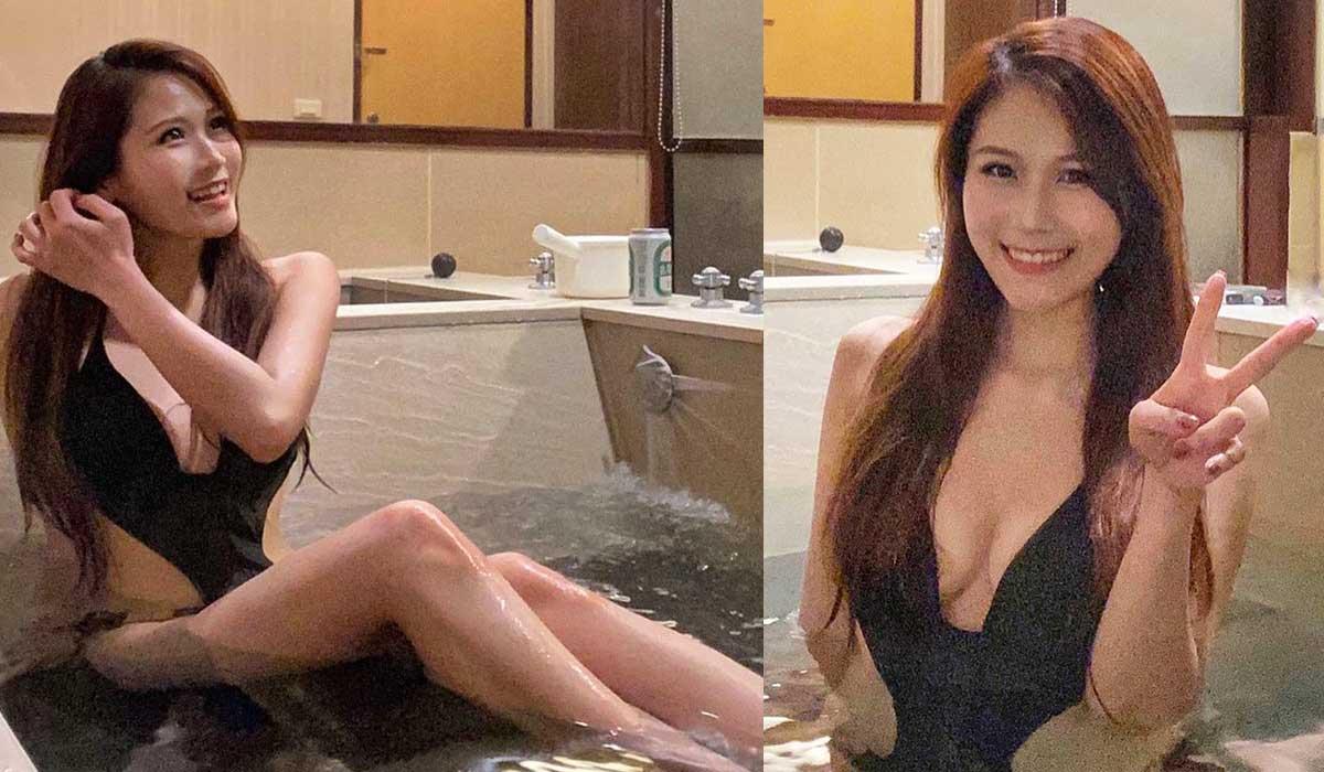 ViuTV 李昭南罕有泳裝照黑色一件頭中門大開泡溫泉 - 美女圖 -