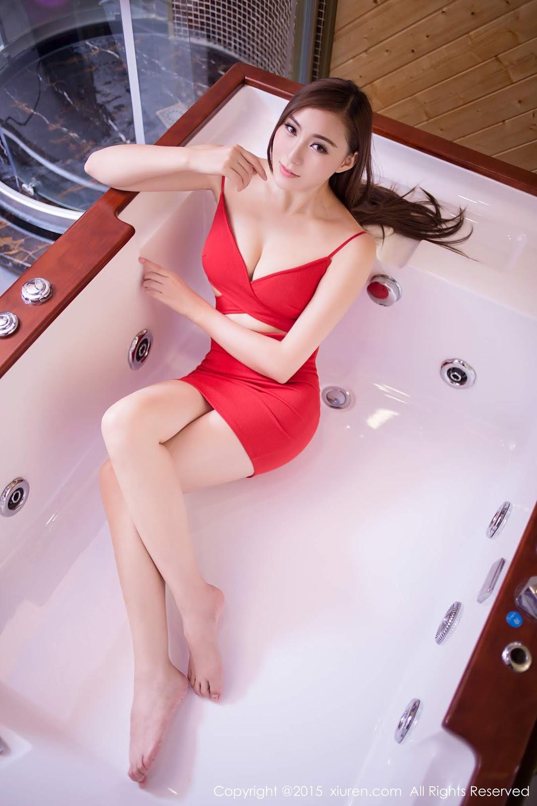 氣質女神 伍曉麗  火辣性感紅色洋裝美得讓人目瞪口呆 - 貼圖 - 清涼寫真 -