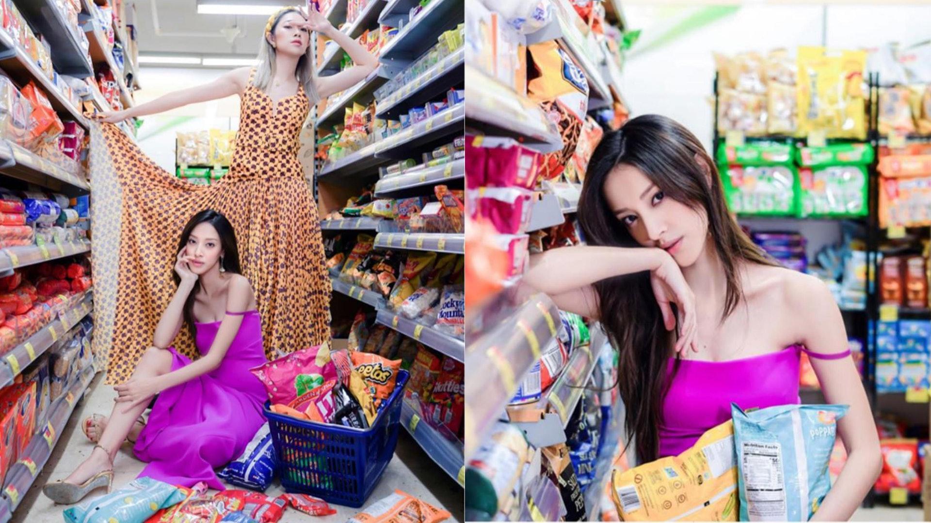 凱琳轉戰超市影寫真 零食遮孕肚狀態Fit爆 - 亞洲美女 -
