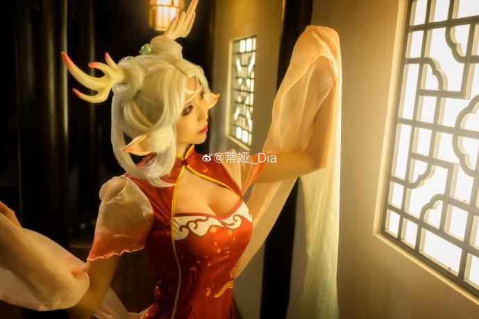 王者榮耀   遇見神鹿·瑤 旗袍同人   @蒂娅_Dia - COSPLAY -