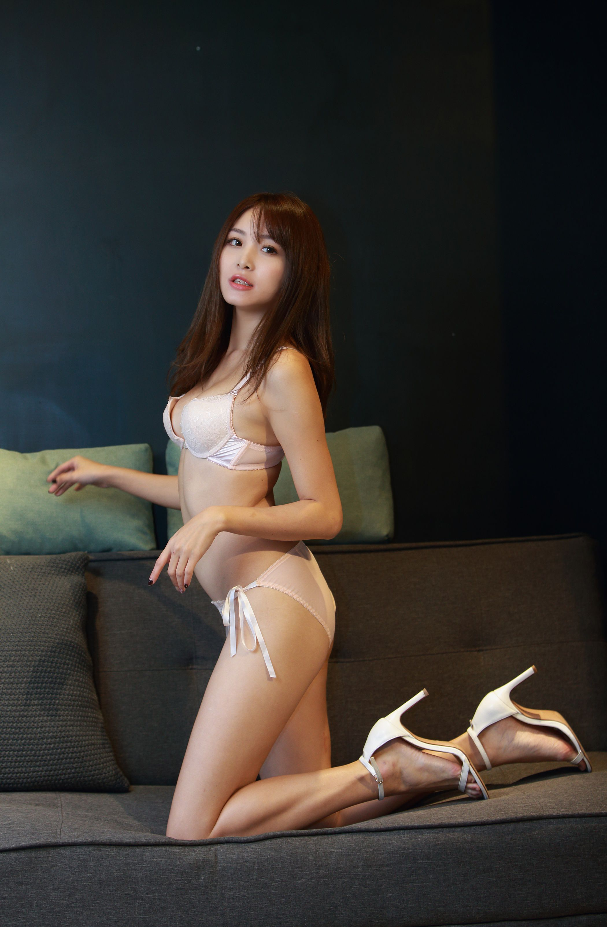 Taiwanese Model – Ash Ley – Sexy Girl and White Lingerie [131P] - 美女圖 -