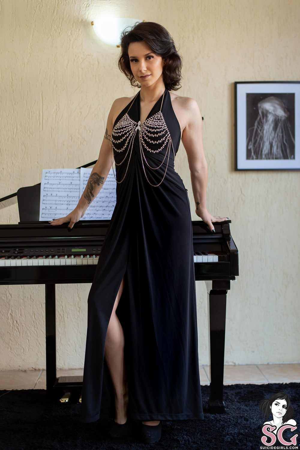 [Suicide Girls] Gweenblack - The Piano Room - 貼圖 - 歐美寫真 -