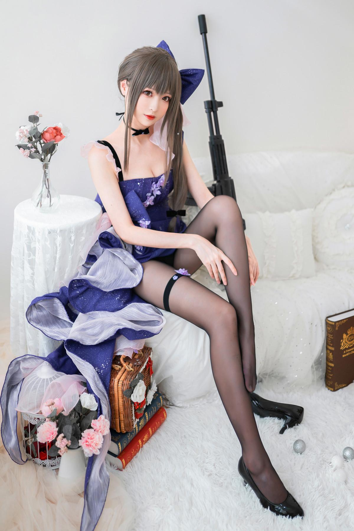 藍裙蝶美女私房Cosplay主題性感黑絲褲襪秀美腿撩人誘惑寫真 - COSPLAY -