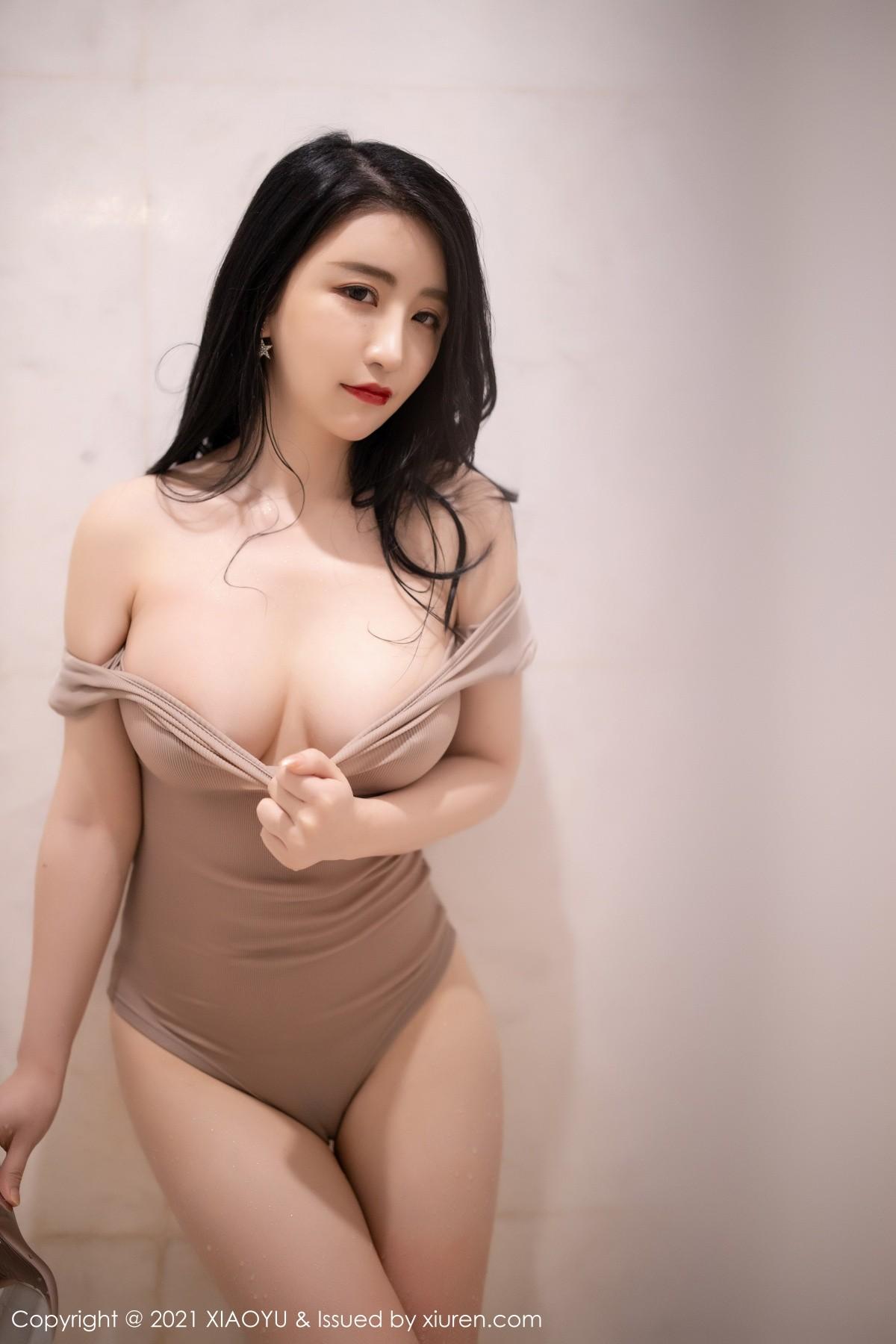 [XiaoYu畫語界] Vol.565_緋月櫻西雙版納旅拍浴室連體內衣濕身誘惑寫真 - 貼圖 - 清涼寫真 -