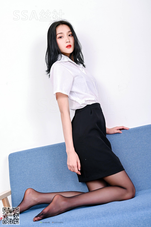 【SSA絲社系列】No.136 君君女秘書的職業裝黑絲 2【94P】 - 貼圖 - 絲襪美腿 -