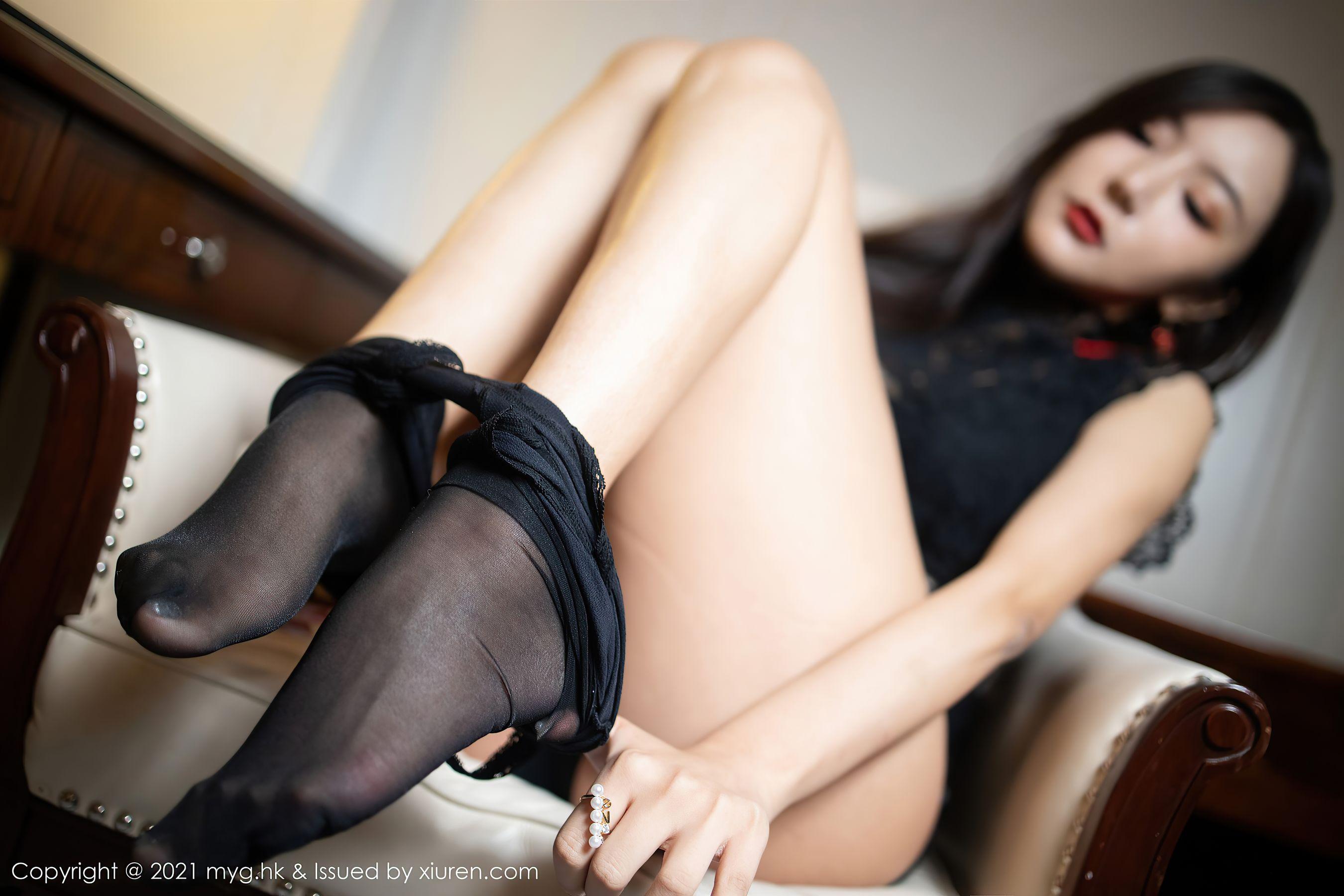 [美媛館MyGirl] Vol.546 王馨瑤yanni – 魅惑動人的黑色蕾絲镂空服飾 - 貼圖 - 清涼寫真 -