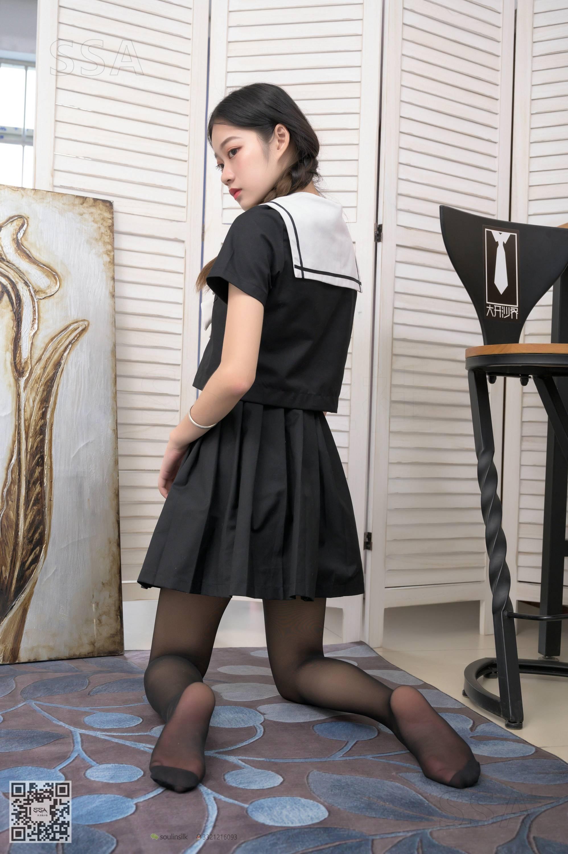 【SSA絲社系列】No.205 小九 黑絲JK制服 2【76P】 - 貼圖 - 絲襪美腿 -