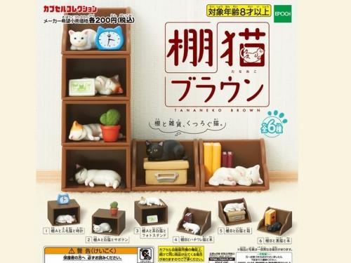 家具與貓的雙倍療癒! EPOCH社推出「褐色棚貓」扭蛋系列!