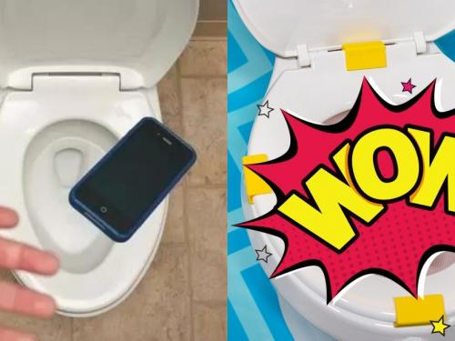 太荒謬!國外品牌獵奇發明,手機再也不怕掉馬桶,網:這要怎麼上x號啦!