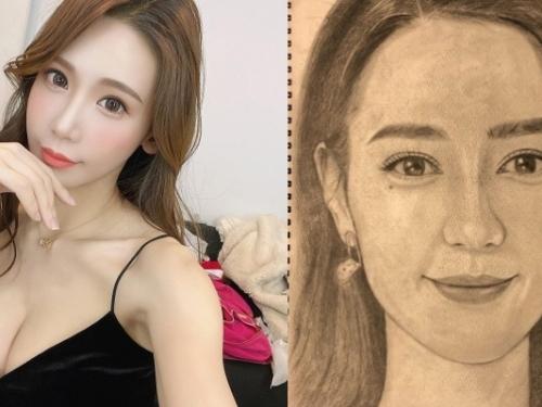 猜猜她畫的是誰!JKF 女郎「楊羽霏」疫情重拾畫筆  畫功驚豔網友