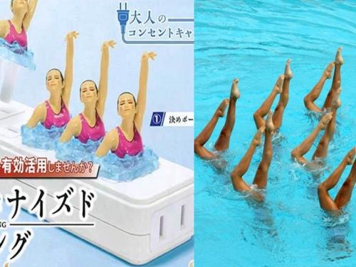 從水上移動到插座上! 日本扭蛋商推出「大人的插座保護套 水上芭蕾」系列扭蛋!