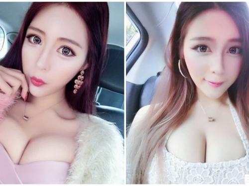 正妹低胸裝「上圍超兇猛」,傲人火辣美乳「事業線超深長」!