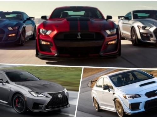 三台都想要!Ford Shelby GT500、Lexus RC F Track Edition、Subaru WRX STI S209 底特律車展同步亮相